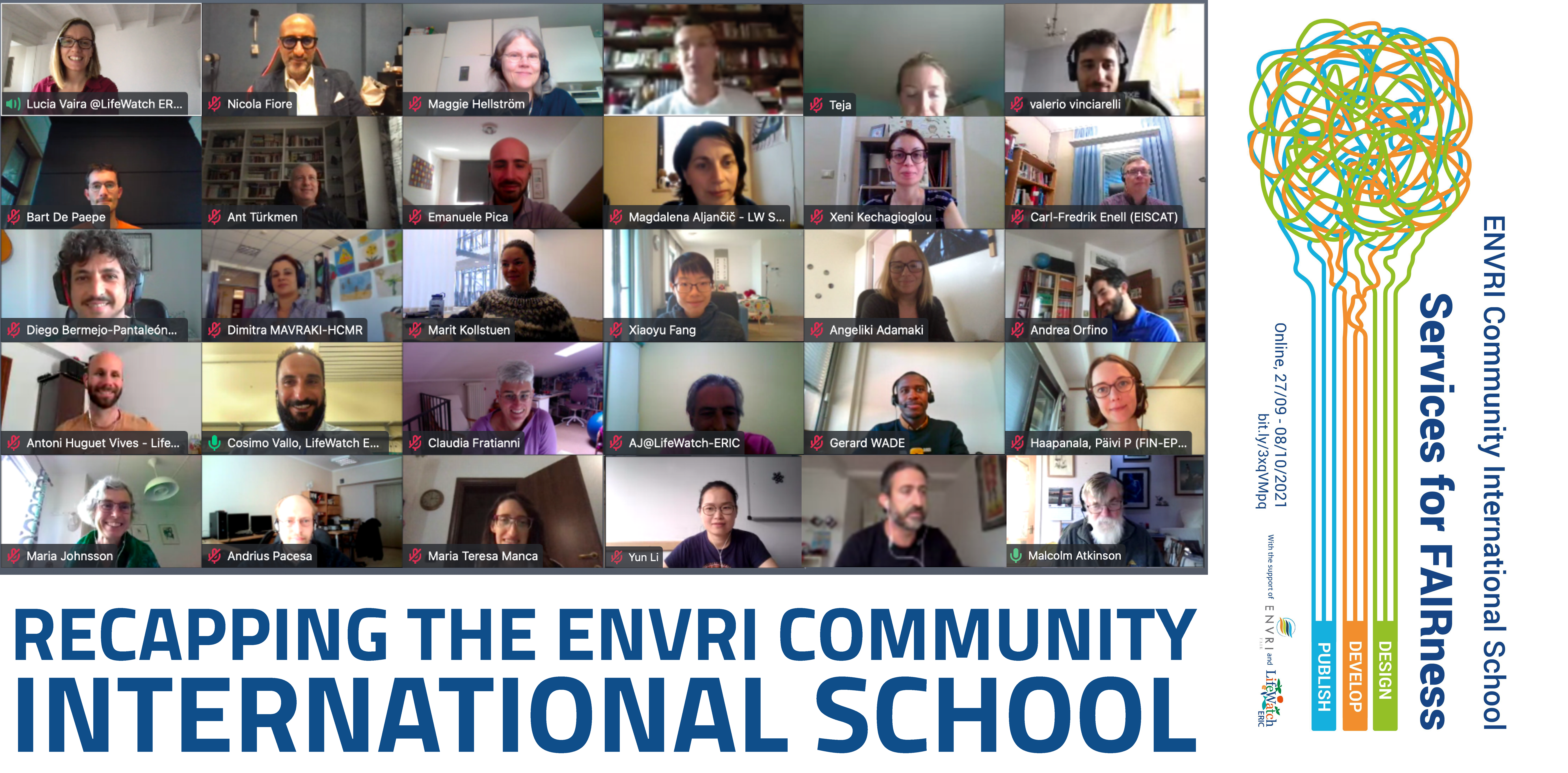 """Recapping the ENVRI Community International School """"Services for FAIRness"""""""