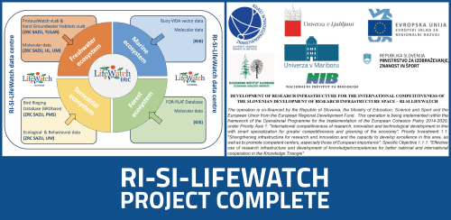 Completion of RI-SI-LifeWatch Project