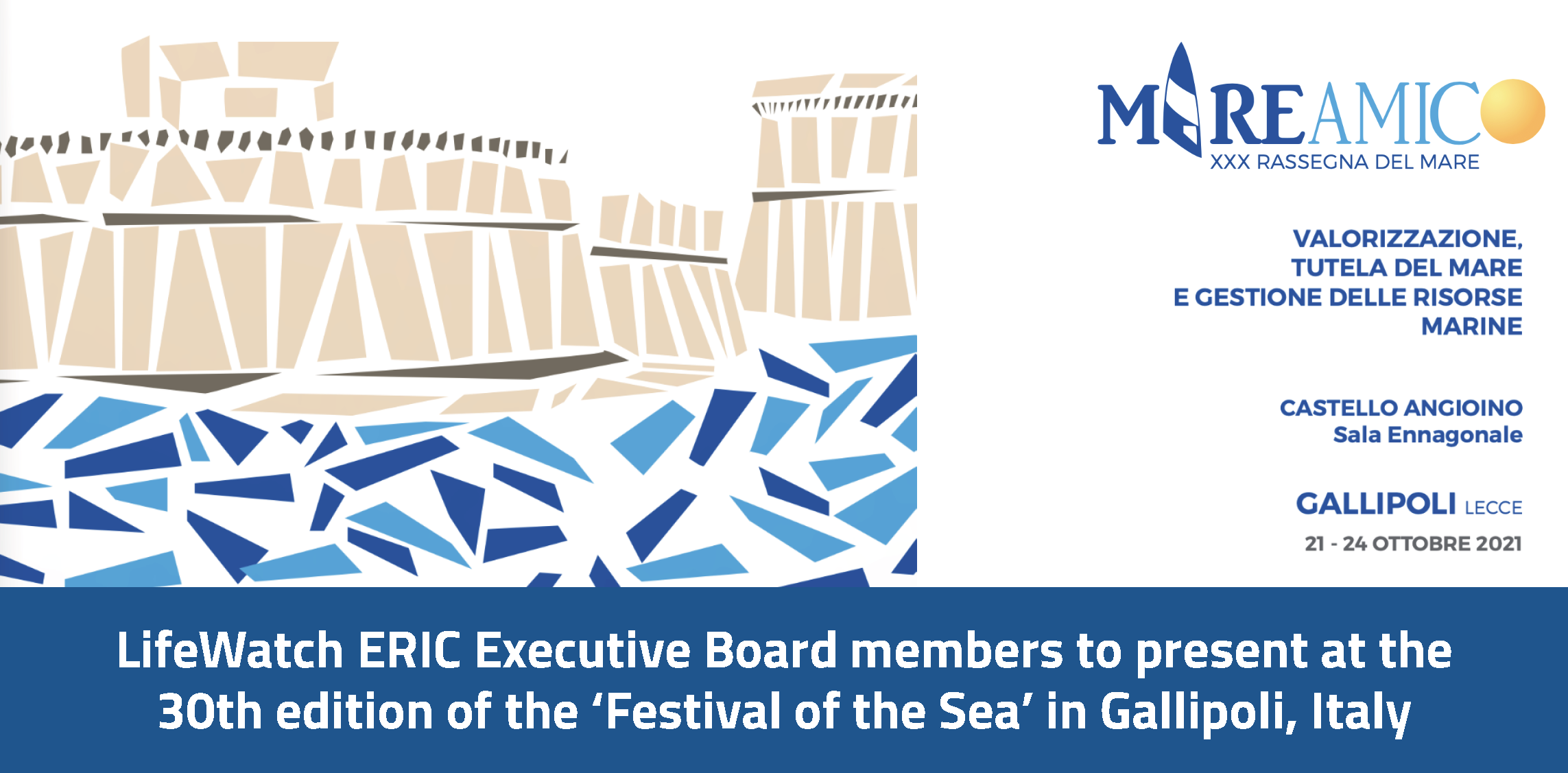LifeWatch ERIC Executive Board members to speak at the 'XXX° Rassegna del mare'
